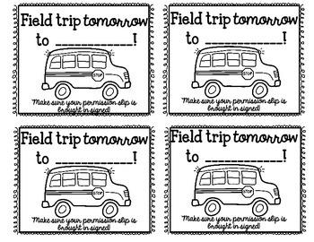 Quick Print Parent Reminders