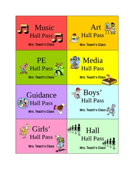Quick Printable Hall Passes