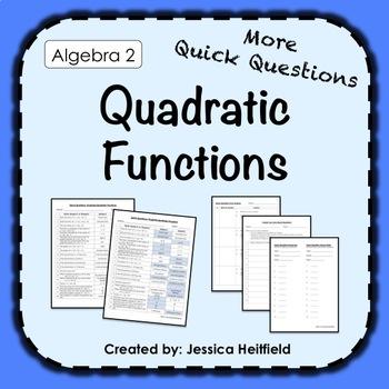 Quadratic Functions Activity: Fix Common Mistakes!