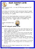 Quick Conversation Questions - level 1