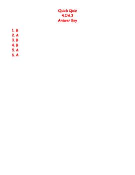 Quick Quiz 4.OA.3