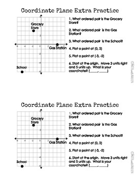 Quick Quiz-Assessment AND Remediation- Coordinate Plane - 6.NS.7