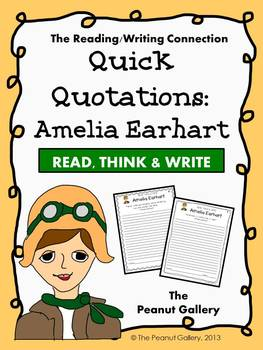 Quick Quotations: Amelia Earhart