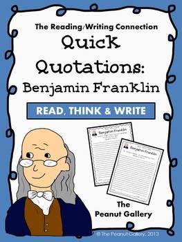 Quick Quotations: Benjamin Franklin