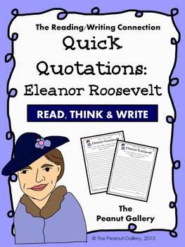 Quick Quotations: Eleanor Roosevelt