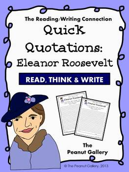 Quick Quotations: Eleanor Roosevelt