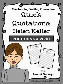 Quick Quotations: Helen Keller