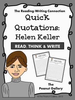 Quick Quotations: Helen Keller
