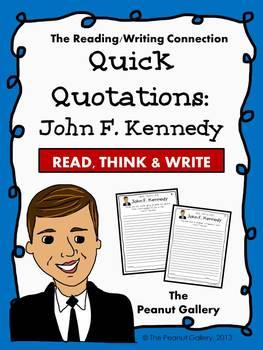 Quick Quotations: John F. Kennedy