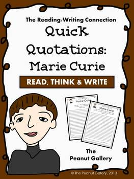 Quick Quotations: Marie Curie