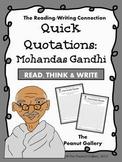 Quick Quotations: Mohandas Gandhi