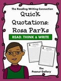 Quick Quotations: Rosa Parks