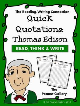 Quick Quotations: Thomas Edison