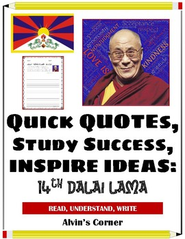 Quick Quotes, Inspire Ideas - 14th Dalai Lama - Buddhist Monk