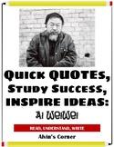 Quick Quotes, Inspire Ideas - Ai Weiwei: Artist, Political Activist
