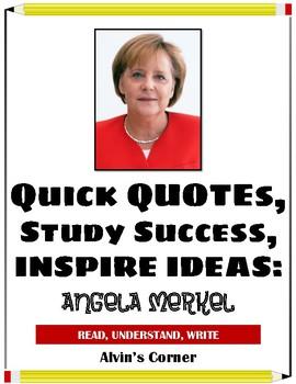 Quick Quotes, Inspire Ideas - Angela Merkel