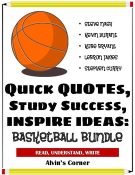 Quick Quotes, Inspire Ideas - Basketball Bundle