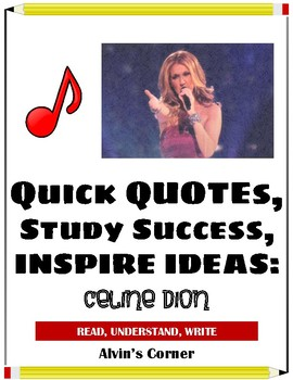 Quick Quotes, Inspire Ideas - Celine Dion: Canadian Musician (Pop Star)