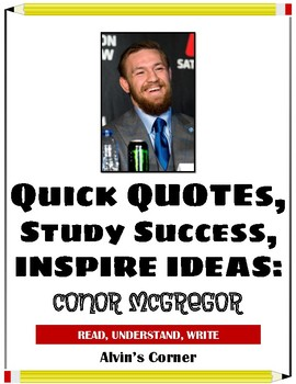 Quick Quotes, Inspire Ideas - Conor McGregor