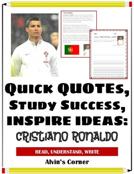 Quick Quotes, Inspire Ideas - Cristiano Ronaldo - Soccer Player