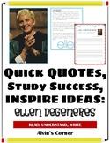Quick Quotes, Inspire Ideas - Ellen DeGeneres: Entertainer, LGBT Advocate