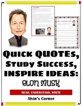 Quick Quotes, Inspire Ideas - Elon Musk: Businessman, Entrepreneur