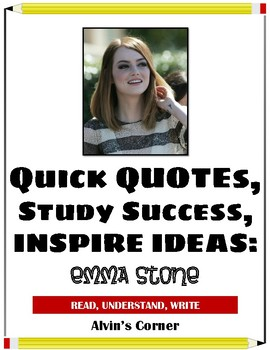 Quick Quotes, Inspire Ideas - Emma Stone