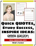 Quick Quotes, Inspire Ideas - Emma Watson: Actress, Gender