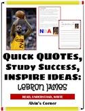 Quick Quotes, Inspire Ideas - Lebron James: Basketball Pla