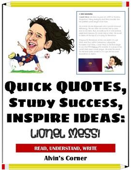 Quick Quotes, Inspire Ideas - Lionel Messi - Soccer Player (Argentina)