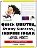Quick Quotes, Inspire Ideas - Lionel Messi - Soccer Player