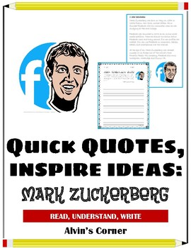 Quick Quotes, Inspire Ideas - Mark Zuckerberg: Founder of Facebook