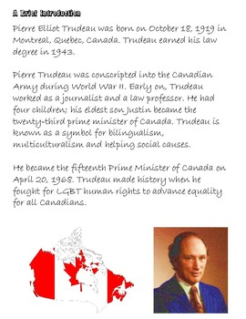 Quick Quotes, Inspire Ideas: Pierre Elliot Trudeau: Prime Minister of Canada