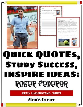 Quick Quotes, Inspire Ideas - Roger Federer: Tennis Player