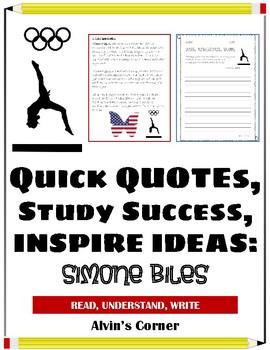 Quick Quotes, Inspire Ideas - Simone Biles: American Gymnast