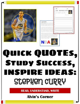 Quick Quotes, Inspire Ideas - Stephen Curry: Basketball Shooter (NBA)