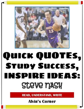 Quick Quotes, Inspire Ideas - Steve Nash: Canadian Basketball Player (NBA)