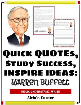 Quick Quotes, Inspire Ideas - Warren Buffett: Businessman, Philanthropist
