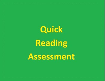 Quick Reading Assessment