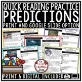 Quick Digital Reading Comprehension Skills: Making Predictions Passages