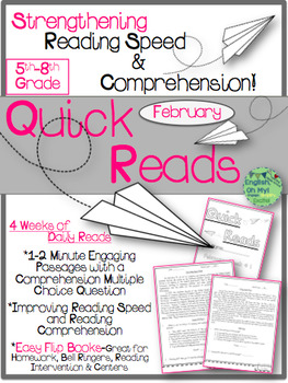 Quick Reads {February}-Passages, Reading Comprehension, Reading Intervention