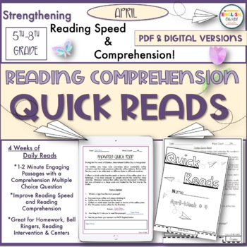 Quick Reads {April}-Passages, Reading Comprehension, Reading Intervention