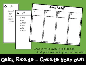 Quick Reads Template - Create your own!