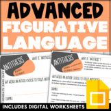 Collaborative WORD WALL | ADVANCED Literary Terms