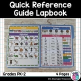 Quick Reference Guide Lapbook for Early Readers FREEBIE