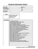 Quick Reference Sheet for Resource/General Education Teachers