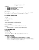 Quick Reference Sheet for Writing and Formatting MLA