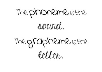 Quick Reminder posters for Phonics