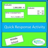 Quick Response Activity