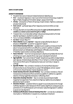 Quick Review DSM-5 Study Guide